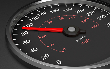 Speedometer. 3d render illustration