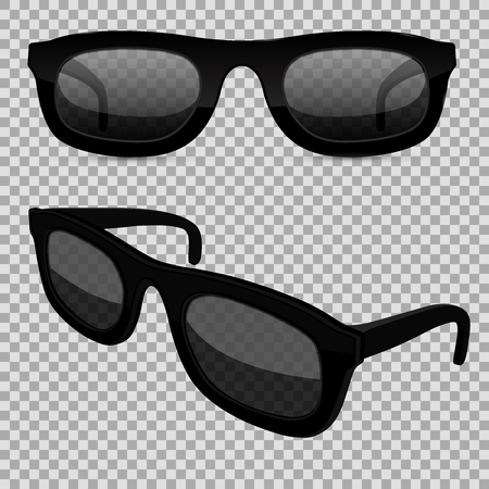 Sunglasses on transparent background. Vector illustration isolated