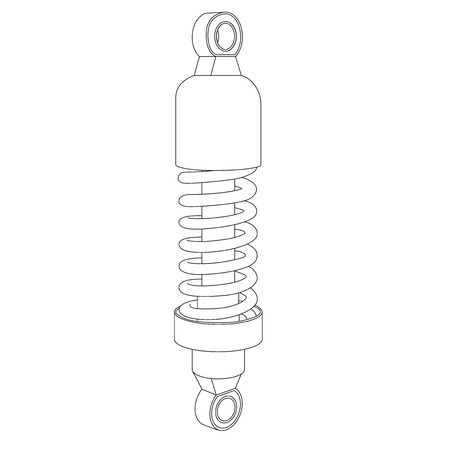 Shock absorber. Spare part for vehicles. Outline icon Stock Vector - 119719856