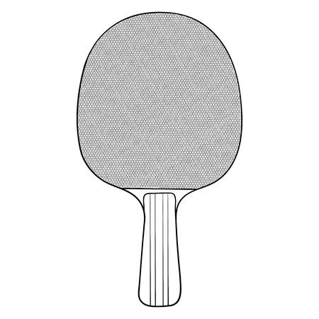 Table tennis racket. Hand drawn