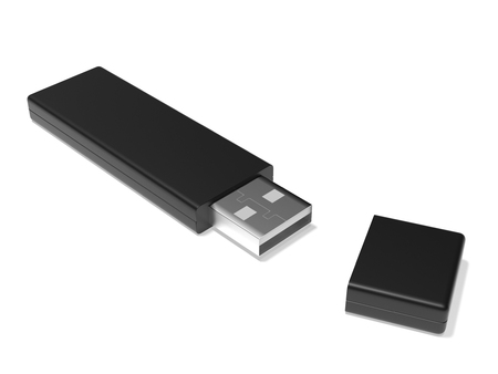 USB flash drive. 3d rendering illustration isolated