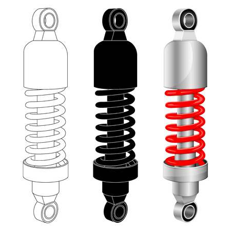 Shock absorber. Vector illustration isolated on white background Illustration