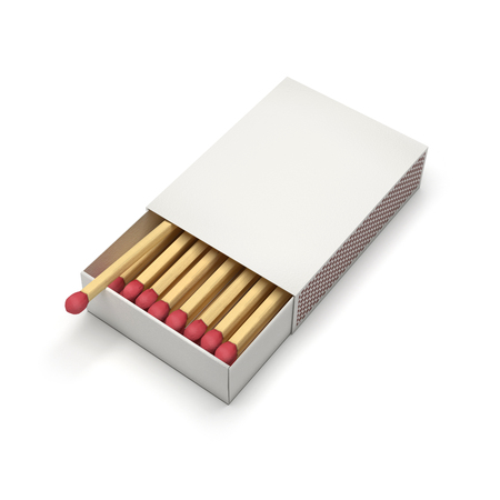 Box of matches. Blank package. 3d rendering illustration