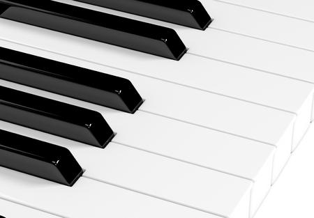 Piano keyboard. 3d rendering illustration