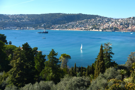 French riviera View on Villefranche sur mer, France.