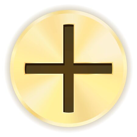 Screw head. Cross shape. Vector illustration