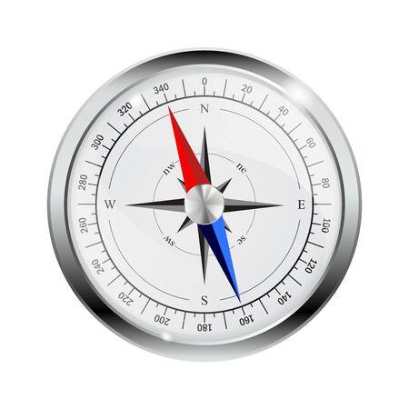 Compass. Orientation metal gauge Ilustrace