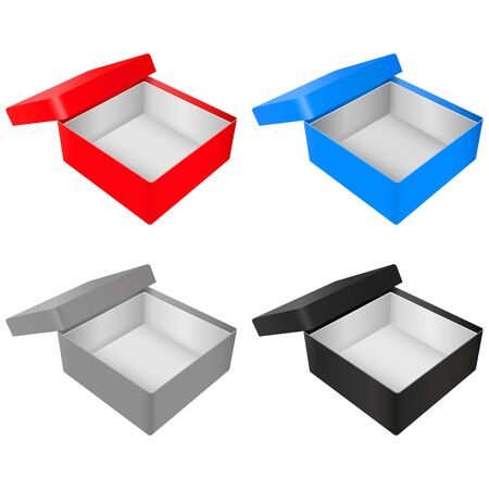 Empty gift box. Colored set Imagens - 127870466