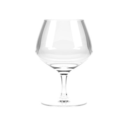 Snifter, brandy glass. 3d rendering illustration Imagens