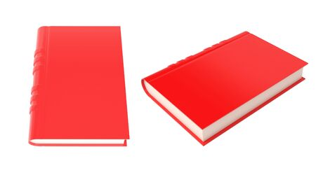 Red book. 3d rendering illustration isolated on white background Imagens - 127871162