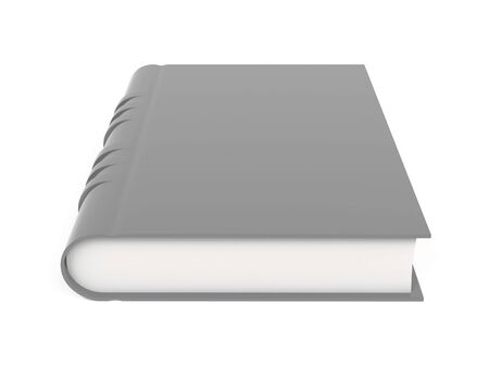 Gray book. 3d rendering illustration isolated on white background Imagens - 127871163