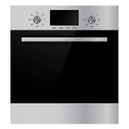 Oven, domestic kitchen appliance. Vector 3d illustration Imagens - 127918360