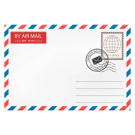Envelope with postmarks