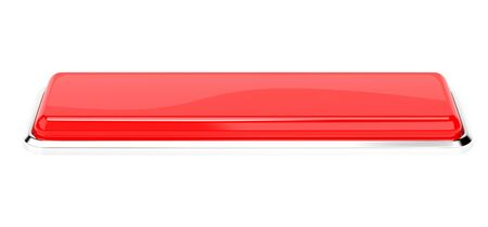 Red button. 3d rendering illustration