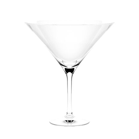 Martini cocktail glass. 3d rendering illustration isolated 스톡 콘텐츠