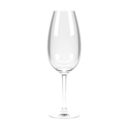 Wine glass. 3d rendering illustration isolated