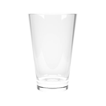 Water glass. 3d rendering illustration isolated