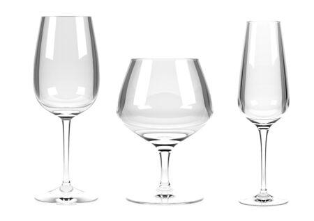 Wine glasses. Set