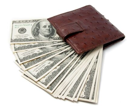 US dollars in the wallet