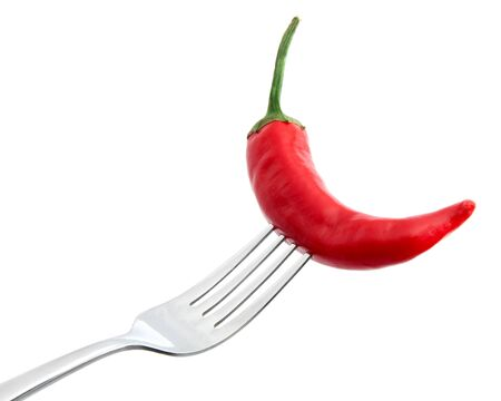 Chili pepper on a fork