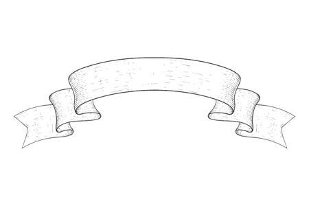 Paper scroll. Hand drawn sketch  イラスト・ベクター素材