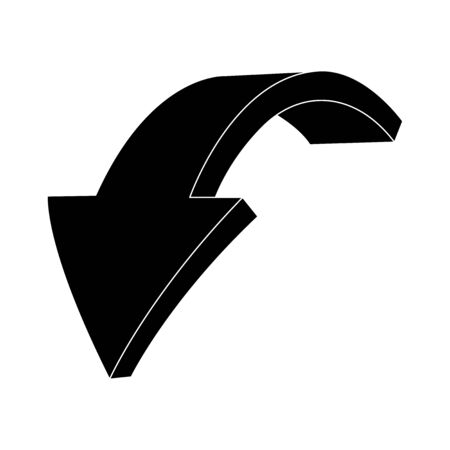 Down arrow. Black flat sign