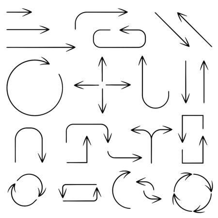 Black simple arrows. Web icons
