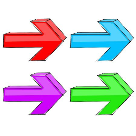 Next arrows. Web colored signs Stok Fotoğraf - 133153712
