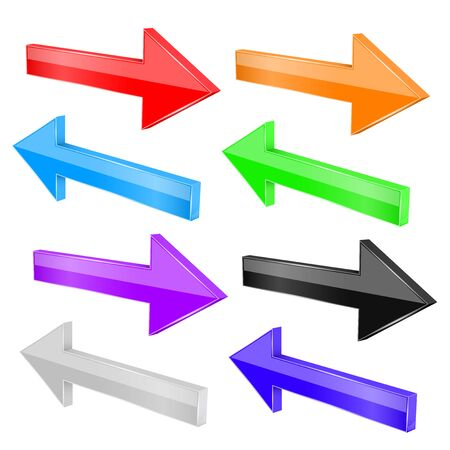 Back and Next arrows. Colored set Çizim