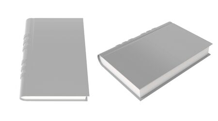 Gray book. 3d rendering illustration isolated Stok Fotoğraf