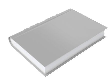 Gray book. 3d rendering illustration isolated Banco de Imagens