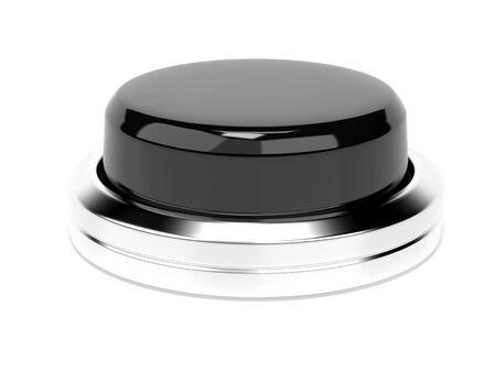 Black push button. 3d rendering illustration isolated