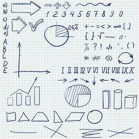 Sketch in a school notebook