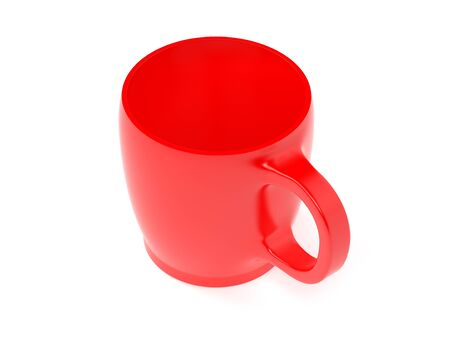 Red cup. 3d rendering illustration isolated on white background