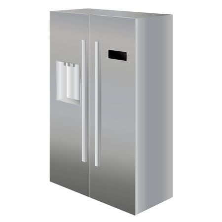 Refrigerator. Vector illustration isolated on white background Standard-Bild - 133632073