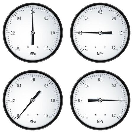 Manometers for pressure measerument Ilustración de vector