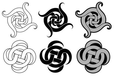 Decorative arabic ornament. Tattoo design