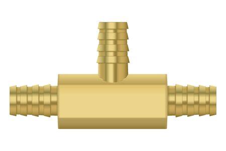 Zinc metal pipe connetor 写真素材 - 134588688