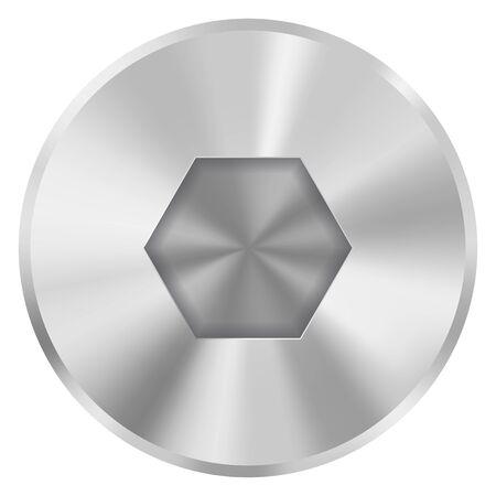 Metalowy łeb śruby