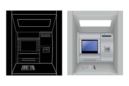 ATM. Vector illustration isolated on white background