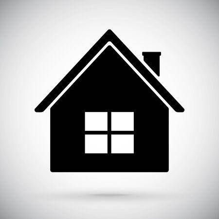 House icon. Black sign Illusztráció