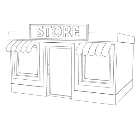 Store building. Outline house