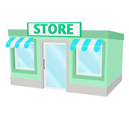 Store building. Small green house