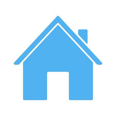 Blue house icon. Vector illustration isolated on white background Illusztráció