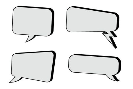 Speech bubbles set. Vector illustration isolated on white background