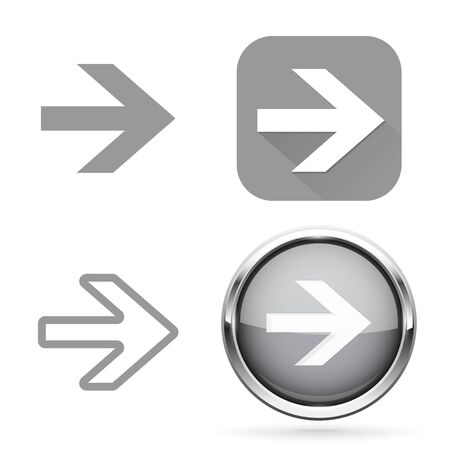Next signs. Gray buttons and icons