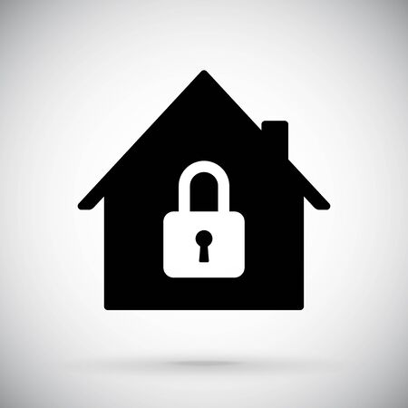 Black house icon. Closed account symbol