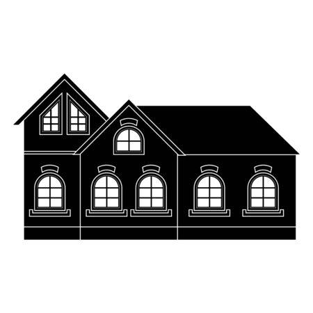 Private cottage. Black icon