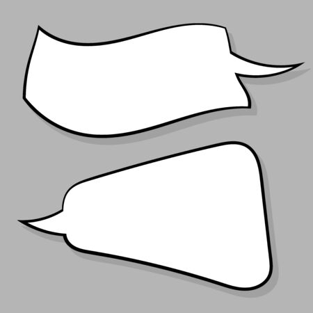 Speech bubbles set on gray background. Vector illustration