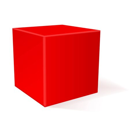 Cube. 3d geometric shape. Vector illustration isolated on white background
